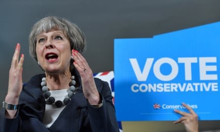 Theresa May campaigns ahead of the 2017 general election