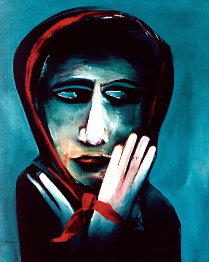 Barbara in Red Scarf (1960) by Charles Blackman.