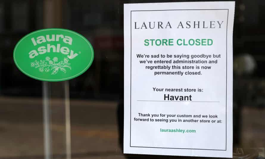 A Laura Ashley shop after it went into administration.