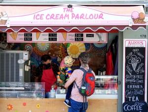 Ice-cream lovers in Norwich.