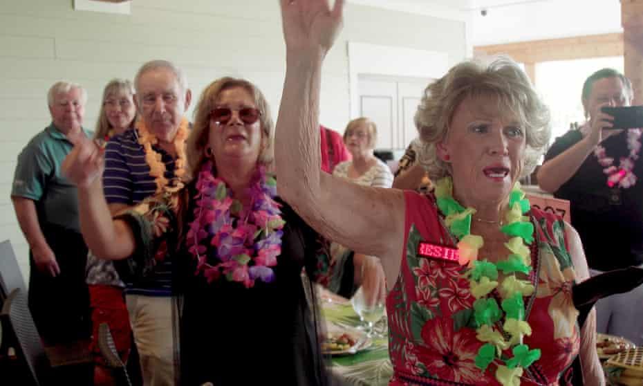 Hawaiian night held by Villagers For Trump.