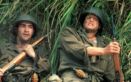 Ben Chaplin and Woody Harrelson in The Thin Red Line.