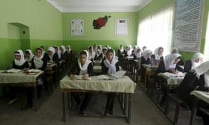 Students in 11th grade at Zarghona high school