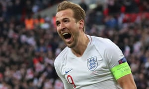 Harry Kane shows his delight after scoring the late winner against Croatia at Wembley which propelled England into the finals of the Nations League.