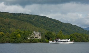 Steamer 'Swan' passing Ferry House, Lake Windermere