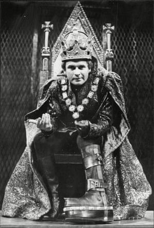 Ian Holm as Richard III at Stratford-upon-Avon in 1966.