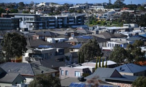 House rooftops in Melbourne
