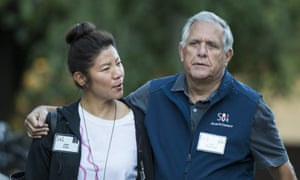 Les Moonves with his wife Julie Chen. The CBS statement read: 'CBS has committed to investigating claims that violate the company's clear policies in that regard.'
