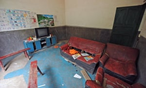 The room where four children lived in the village of Cizhu in Guizhou, one of China's poorest provinces