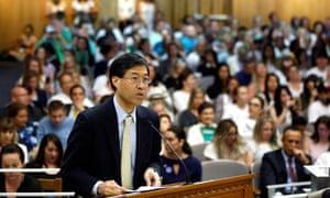 Richard Pan speaks at the capitol, in Sacramento, California.