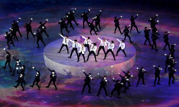 EXO: K-pop boyband thrills Winter Olympics closing ceremony ...