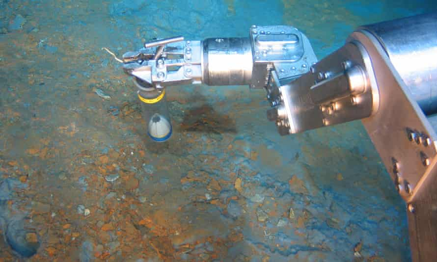 A machine taking sediment samples as part of deep-sea mining operations off the PNG coast.