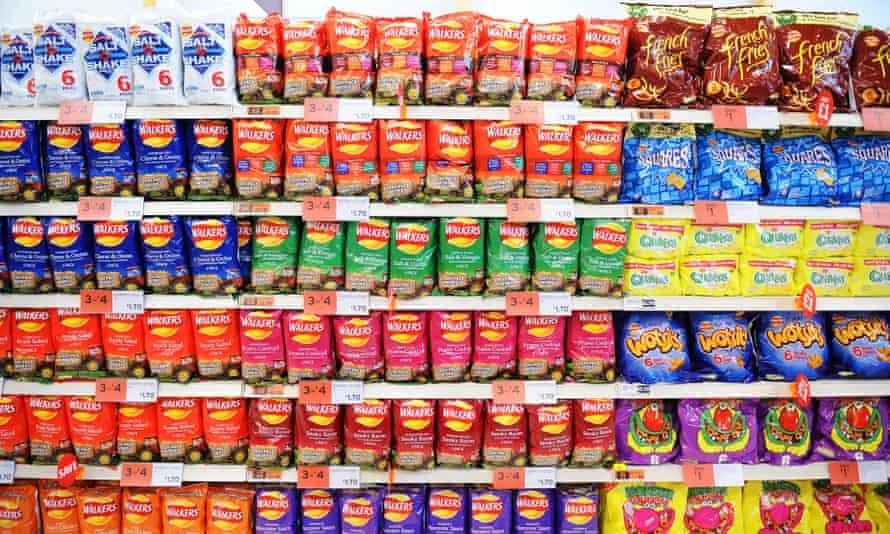 Crisps in supermarket