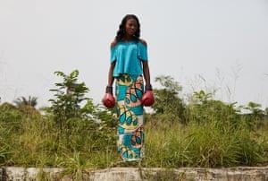 Marcella Sakobi, 22, in the Victorie neighbourhood of Kinshasa