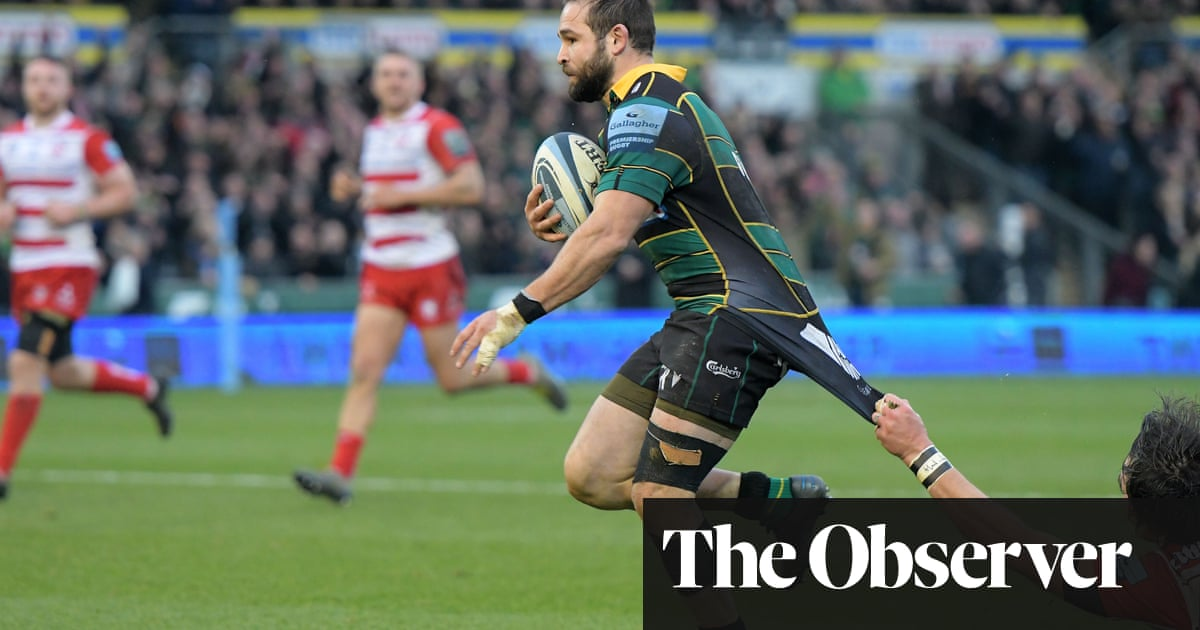 Northampton hold out for win despite Rees-Zammit's hat-trick for Gloucester