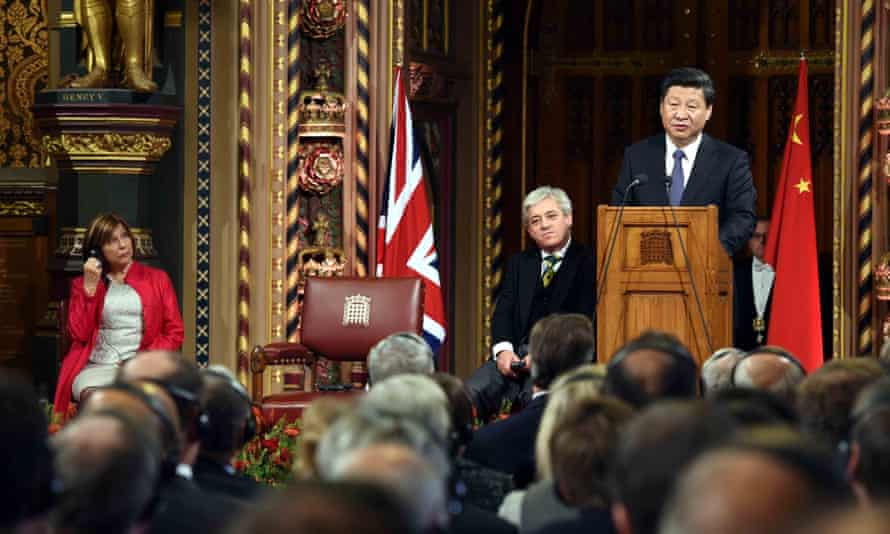 Chinese president addresses both houses of parliament in London