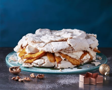 Jeremy Lee's walnut and pineapple meringue cake.