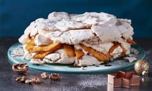 Walnut & Pineapple Meringue Cake