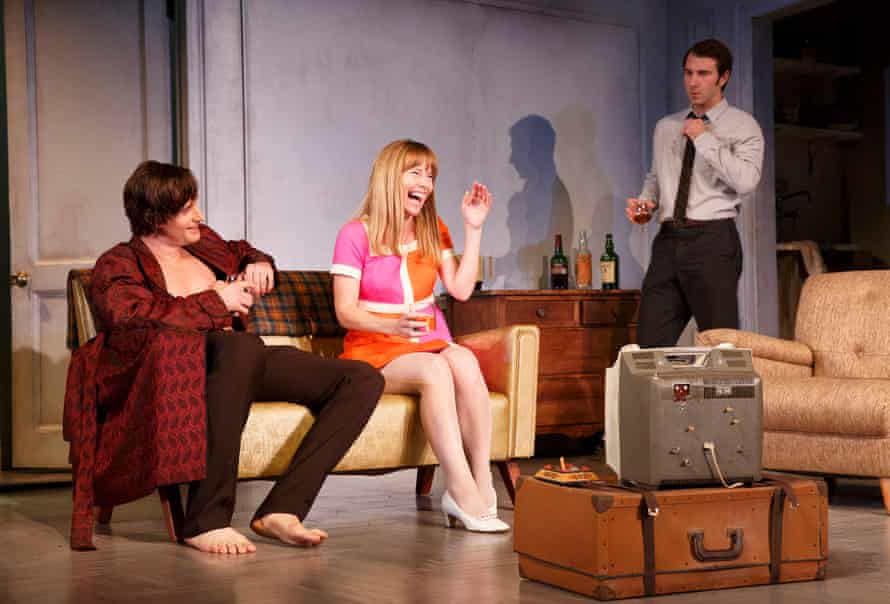 Swinging: Richard Armitage, Amy Ryan and Alex Hurt play their characters in the 60s.