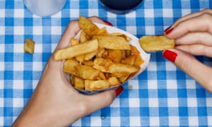 Hands holding chips