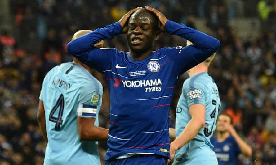 Chelsea's N'Golo Kanté suffered the injury during training in preparation for the Europa League final against Arsenal.