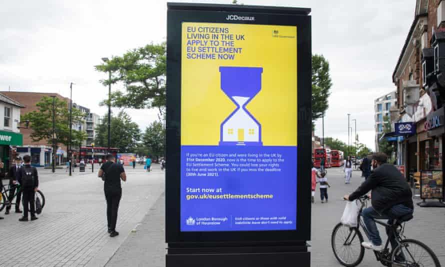 An advertisement for the EU Settlement Scheme in Hounslow