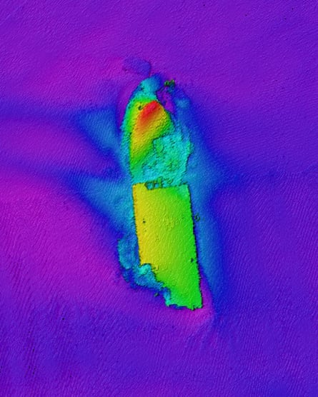 A sonar image of one of the vessels