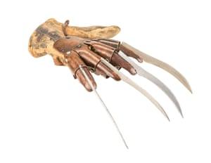 Freddy Kruger's (Robert Englund) glove from Ronny Yu's action-horror film Freddy Vs. Estimate: £20,000 - £30,000