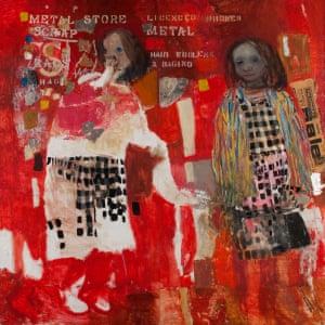 Two Children, (1963), H134.7 x W134.7 cm Joan Kathleen Harding Eardley