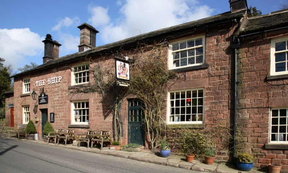 Ship inn pub in Wincle near Macclesfield Cheshire UK