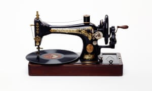 Sewing Machine, Record Player, 2011, by Nancy Fouts.