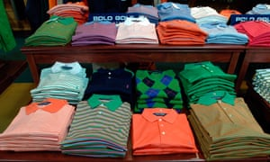 Polo golf shirts by Ralph Lauren at the New York Golf Center.