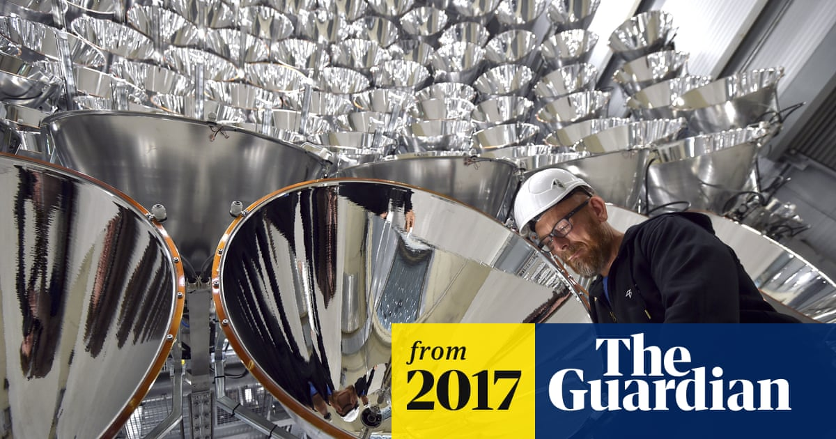 Let there be light: Germans switch on 'largest artificial