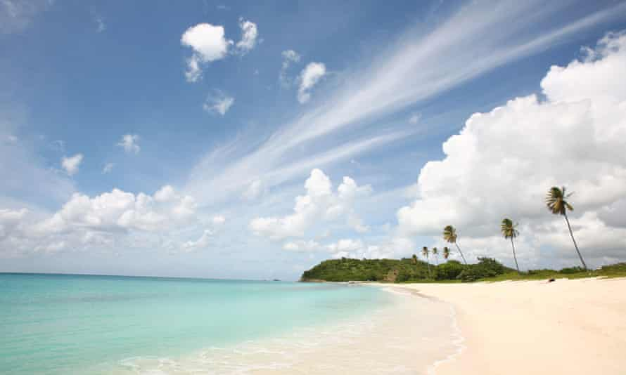 Coral island … Antigua in the Caribbean.