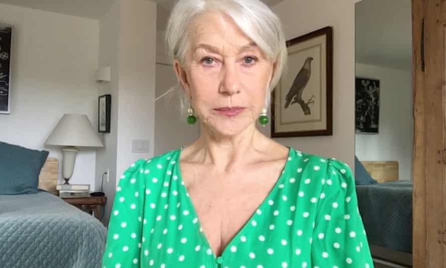 Helen Mirren in the National Theatre's Stay at Home quiz.