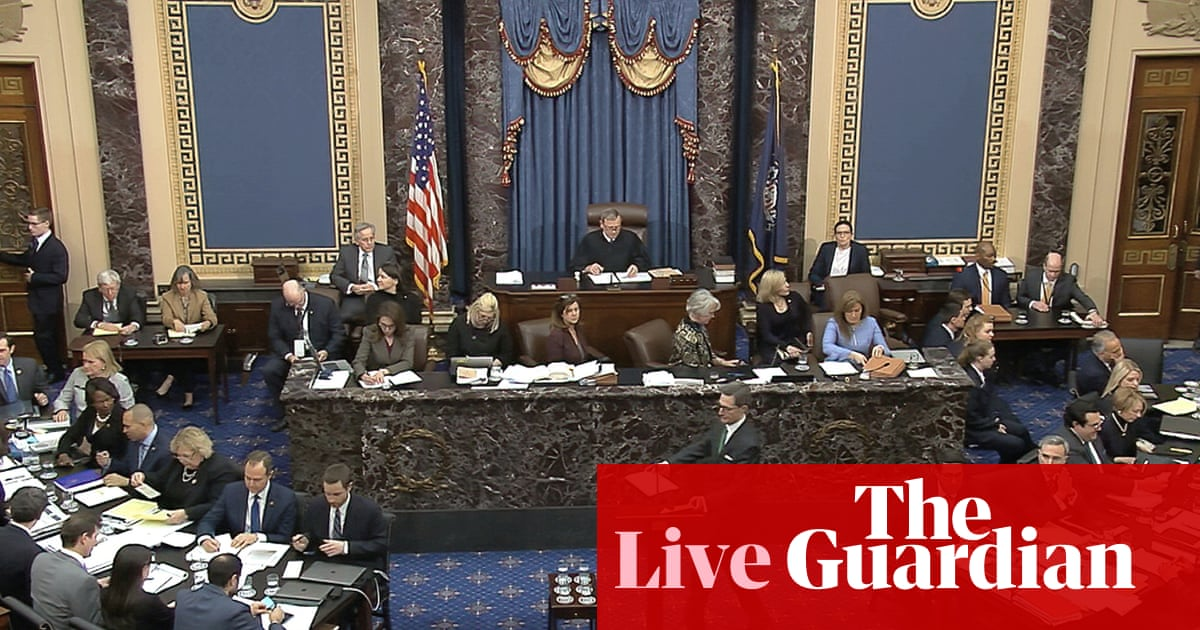 2635 - Trump impeachment trial: senators vote against calling witnesses, paving way for acquittal – as it happened | US news