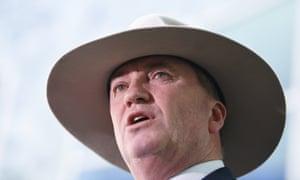 Barnaby Joyce addresses the media