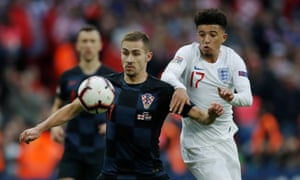 Late England substitute Jadon Sancho helped England to a 2-1 victory over Croatia at Wembley