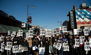 People wait to march to commemorate the 50th anniversary of the assassination of Martin Luther King Jr Wednesday in Memphis, Tennessee.