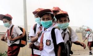 Karo, North Sumatra: Primary school children