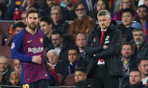 Ole Gunnar Solskjaer's Manchester United were soundly beaten by Lionel Messi and Barcelona in the Champions League quarter-final