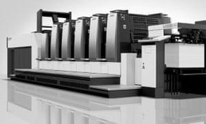 A Komori printer.
