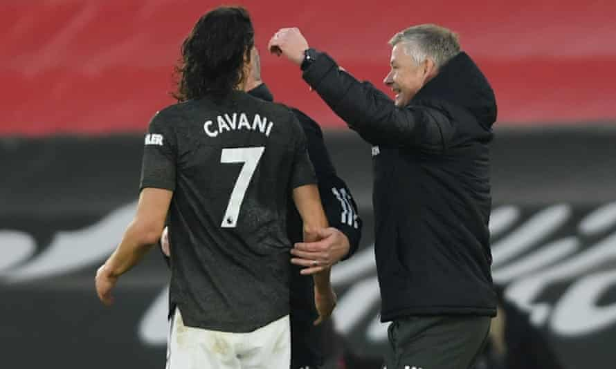 Ole Gunnar Solskjær said Edinson Cavani has 'made a great influence' since he arrived at Manchester United.