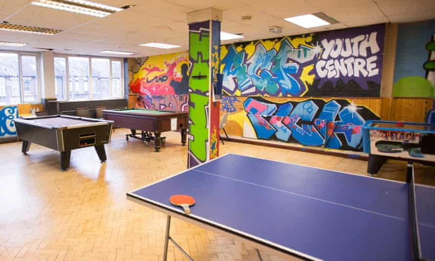 A youth club in east London.