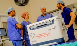 An organ donation box at a hospital