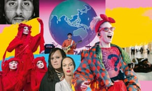 Clockwise from top left: Nike; Vampire Weekend; Liberate Tate; Grimes; Anohni; Extinction Rebellion