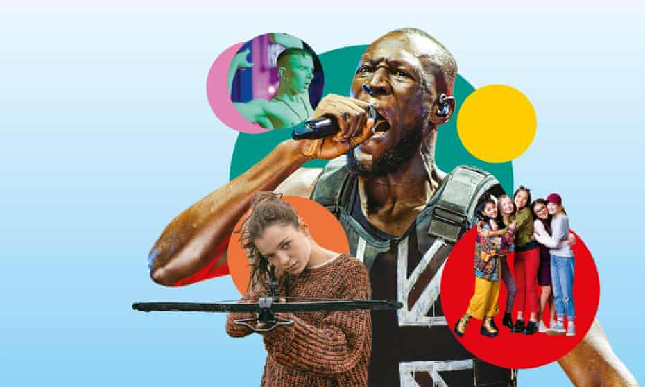 Clockwise from top left: Deep in Vogue; Stormzy at Glastonbury; The Baby-Sitters Club; Hanna.