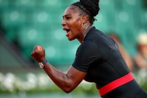 Serena Williams celebrates