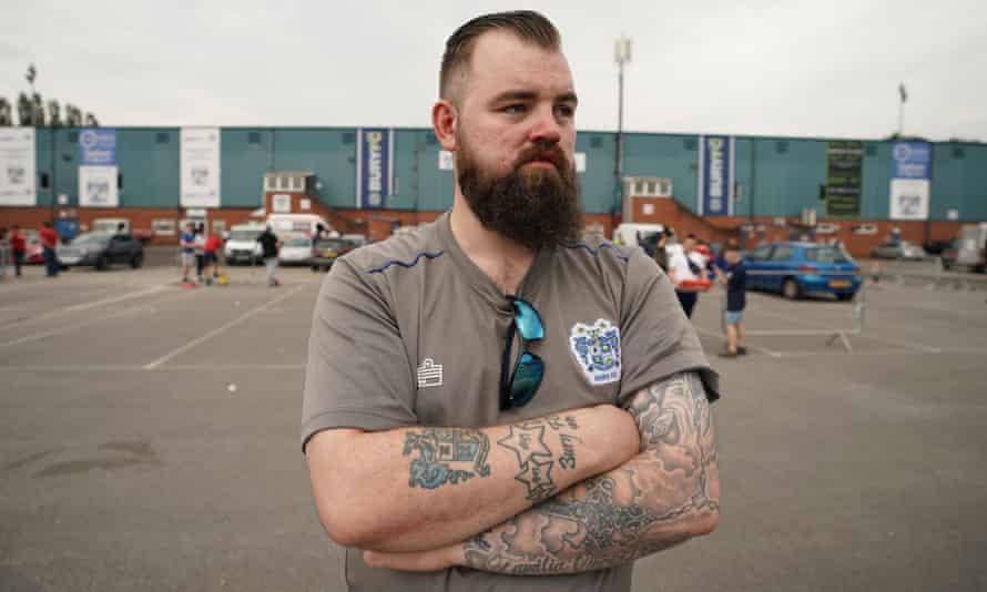 Bury supporter Stephen Farrar