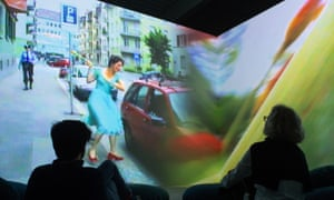 Smash it up … Pipilotti Rist's Ever Is Over All on view at the Glenstone Museum, Potomac, Maryland.